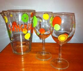 Sangria Pitcher and Glasses Set