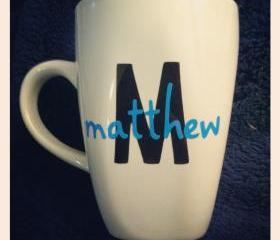 Customizable Initial and Name Mug